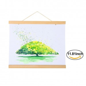 Magnetic Wooden Photo Frame Natural Wood Frame Picture Poster Artwork Canvas Hanger For Home Decoration Wall White Wood White Wood (Size:11.81inch)