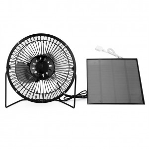 Yosoo 4.5W USB Solar Panel Powered Mini Portable Fan for Cooling Ventilation Outdoor Home Travelling Chicken House RV Car Ventilation System